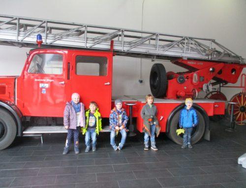 Besuch bei der Feuerwache in Weidenau